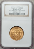 Expositions and Fairs, 1939 Golden Gate Exposition, Tower of the Sun MS64 NGC. Gilt brass. San Francisco, California....
