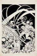 Original Comic Art:Covers, Steve Ditko and Willie Blyberg Hall of Fame Featuring theT.H.U.N.D.E.R. Agents #2 NoMan Cover Original Art (JC P...