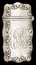 Silver Smalls:Match Safes, A FRANK WHITING SILVER MATCH SAFE . Frank M. Whiting Co., NorthAttleboro, Massachusetts, circa 1900. Marks: (W in circle), ...