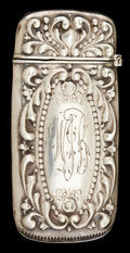 Silver Smalls:Match Safes, A WHITING & DAVIS SILVER MATCH SAFE . Whiting & Davis Co.,Inc., Plainville, Massachusetts, circa 1900. Marks: W&D,STERLI...