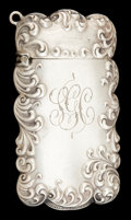 Silver Smalls:Match Safes, A WALLACE SILVER MATCH SAFE . Wallace Silversmiths, Inc.,Wallingford, Connecticut, circa 1900. Marks: (stag), RW&S,STERL...