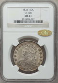 Bust Half Dollars, 1825 50C MS61 NGC. Gold CAC. O-108, R.3....