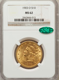 Liberty Eagles, 1903-O $10 MS62 NGC. CAC. Variety 1....