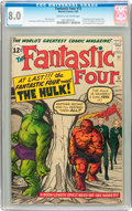 Silver Age (1956-1969):Superhero, Fantastic Four #12 (Marvel, 1963) CGC VF 8.0 Cream to off-whitepages....