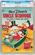 Golden Age (1938-1955):Cartoon Character, Four Color #386 Uncle Scrooge (Dell, 1952) CGC VF/NM 9.0 Off-whiteto white pages....