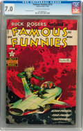 Golden Age (1938-1955):Science Fiction, Famous Funnies #214 (Eastern Color, 1954) CGC FN/VF 7.0 Off-whiteto white pages....