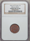 Civil War Merchants, 1863 Broas Brothers, New York, New York MS65 Brown NGC.Fuld-NY630L-5a....