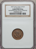 Civil War Patriotics, 1863 Washington - Peace Forever MS65 Brown NGC. Fuld-118/418a....