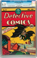 Featured item image of Detective Comics #27 Billy Wright pedigree (DC, 1939) CGC FN+ 6.5 Off-white to white pages....
