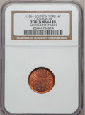 Civil War Merchants, (1861-65) George Hyenlein, New York, New York MS64 Red and BrownNGC. Fuld-NY630AL-7a. Incorrectly attributed as Fuld-630AM-...
