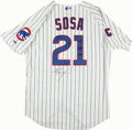 Baseball Collectibles:Uniforms, Sammy Sosa Signed Chicago Cubs Jersey. ...