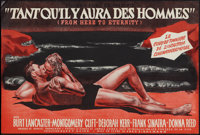 "From Here to Eternity (Columbia, 1953). French Petite (12.5"" X 18""). Academy Award Winners"