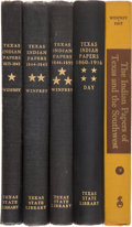 Books:Reference & Bibliography, The Texas Indian Papers in five volumes:... (Total: 5 Items)