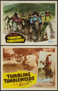 "Movie Posters:Western, Tumbling Tumbleweeds (Republic, R-1940s). Autographed Title Lobby Card and Autographed Lobby Card (11"" X 14""). Western.. ... (Total: 2 Items)"