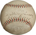 Autographs:Baseballs, 1925 Walter Johnson Signed Baseball....