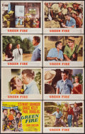 "Movie Posters:Adventure, Green Fire (MGM, 1954). Lobby Card Set of 8 (11"" X 14"").Adventure.. ... (Total: 8 Items)"