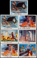"""Movie Posters:Animation, Lady and the Tramp (Buena Vista, R-1962 and R-1971). Lobby Cards (7) (11"""" X 14""""). Animation.. ... (Total: 7 Items)"""