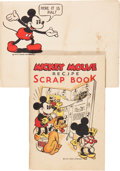Memorabilia:Disney, Mickey Mouse Recipe Scrap Book and Envelope (Maier's Bread, 1930s).... (Total: 2 Items)