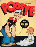Platinum Age (1897-1937):Miscellaneous, Popeye, Thimble Theater Starring Big Big Book #4063 (Whitman, 1935) Condition: FN+....