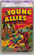 Golden Age (1938-1955):Superhero, Young Allies Comics #1 (Timely, 1941) CGC Apparent FN- 5.5 Moderate (P) Cream to off-white pages....
