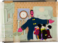 Animation Art:Production Cel, Yellow Submarine Young Fred, John, Paul, and RingoProduction Cel Set-Up with Background Animation Art (UA/KingFeatur...