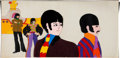 Animation Art:Production Cel, Yellow Submarine John, Paul, George, and Ringo with YellowSubmarine Production Cel Set-Up Animation Art (UA/King Feat...