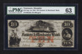 Obsoletes By State:Tennessee, Memphis, TN- Farmers' and Merchants' Bank $10 Aug. 1, 1854. ...