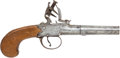 Antiques:Antiquities, English Screwbarrel Boxlock Flintlock Pistol by J & WRichards....