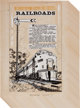 """L. B. Cole, Norman Nodel, and Others The World Around Us #4 """"Railroads"""" Page Original Art Group (Gilberton, 19..."""