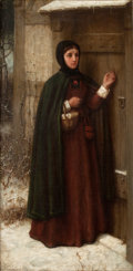 Paintings, GEORGE HENRY BOUGHTON (American, 1833-1905). The Scarlet Letter, 1867. Oil on canvas. 23-1/2 x 11-1/2 inches (59.7 x 29....
