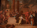 Fine Art - Painting, European:Antique  (Pre 1900), CONTINENTAL SCHOOL (Early 18th Century). Mythological Scene of a Tomb in a Landscape with Classical Ruins, circa 1700. O...