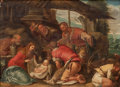 Fine Art - Painting, European:Antique  (Pre 1900), After JACOPO DA PONTE BASSANO (Italian, 1510-1592). The Adoration of the Shepherds, 17th century. Oil on cradled panel. ...
