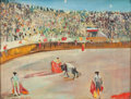 Fine Art - Painting, European:Modern  (1900 1949)  , LUCIEN ADRION (French, 1889-1953). Bullfight, circa 1940-50.Oil on canvas. 19-1/2 x 25-1/2 inches (49.5 x 64.8 cm). Sig...