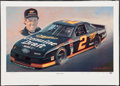Miscellaneous Collectibles:General, Rusty Wallace Signed Lithograph. ...