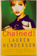 Books:Mystery & Detective Fiction, Lauren Henderson. Chained! London: Hutchinson, [2000]. First edition. Octavo. 249 pages. Publisher's binding, dust j...