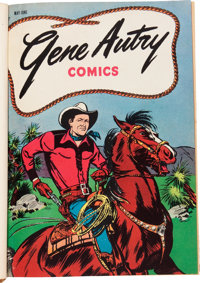 Gene Autry Comics #1-72 Bound Volumes (Dell, 1946-53).... (Total: 6 Items)