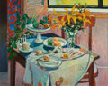 Fine Art - Painting, American, ROBERT FRAME (American, 1924-1999). Pink Still Life. Oil oncanvas. 32 x 40 inches (81.3 x 101.6 cm). Signed lower left:...(Total: 1 Pieces)
