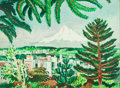 Works on Paper, MILLARD SHEETS (American, 1907-1989). Mount Hood, Oregon. Watercolor on paper laid down on artists' board. 22 x 29-1/2 i...