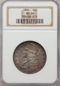 Bust Half Dollars: , 1834 50C Large Date, Large Letters MS64 NGC. NGC Census: (147/93).PCGS Population (59/14). Mintage: 6,412,004. Numismedia ...