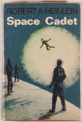 Books:Science Fiction & Fantasy, [Jerry Weist]. Robert A. Heinlein. Space Cadet. London: Gollancz, 1966. First British edition, first printing. O...