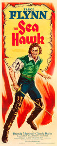 "Movie Posters:Swashbuckler, The Sea Hawk (Warner Brothers, 1940). Insert (14"" X 36"").. ..."