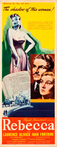 "Movie Posters:Hitchcock, Rebecca (United Artists, 1940). Insert (14"" X 36"").. ..."