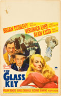 "Movie Posters:Film Noir, The Glass Key (Paramount, 1942). Window Card (14"" X 22"").. ..."