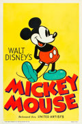 "Movie Posters:Animation, Mickey Mouse Stock Poster (United Artists, 1932). One Sheet (27"" X 41"").. ..."