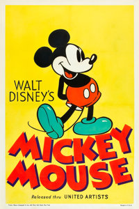 """Mickey Mouse Stock Poster (United Artists, 1932). One Sheet (27"""" X 41"""")"""