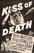 "Movie Posters:Film Noir, Kiss of Death (20th Century Fox, 1947). Full-Bleed One Sheet(25.75"" X 39.5"").. ..."
