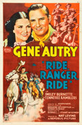 """Movie Posters:Western, Ride, Ranger, Ride (Republic, 1936). One Sheet (27"""" X 41"""").. ..."""
