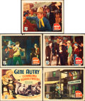 """Movie Posters:Western, Tumbling Tumbleweeds (Republic, 1935). Title Lobby Card and LobbyCards (4) (11"""" X 14"""").. ... (Total: 5 Items)"""