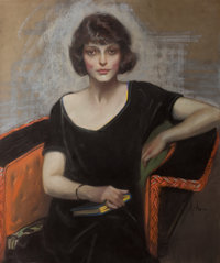 NEYSA MORAN MCMEIN (American, 1888-1949) Portrait of a Young Woman, Saturday Evening Post cover, March
