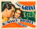 """Movie Posters:Romance, Romance and Riches (Grand National, 1937). Half Sheet (22"""" X 28"""").. ..."""